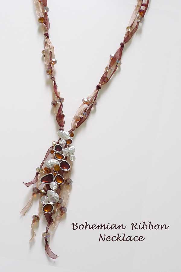Bohemian Ribbon Necklace
