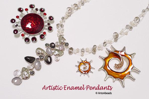 Artistic Enamel Pendants