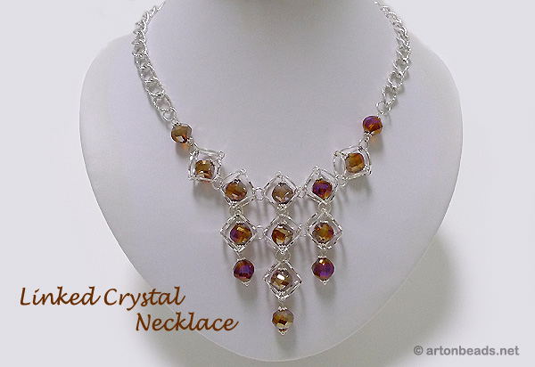 Linked Crystal Necklace