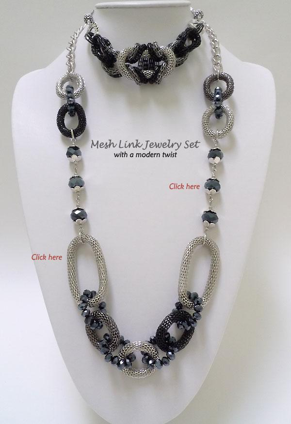 Mesh Link Jewelry Set