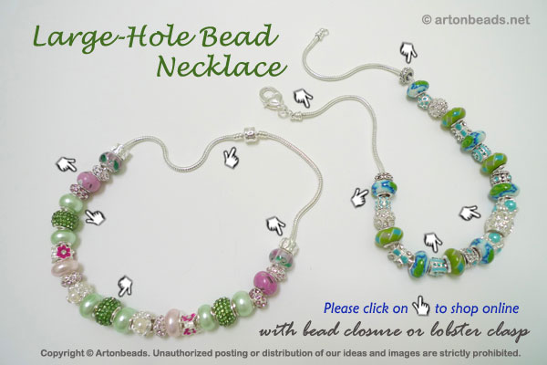 Large-Hole Bead Necklace