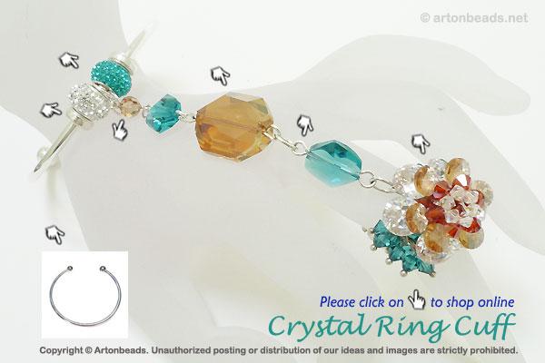 Crystal Ring Cuff