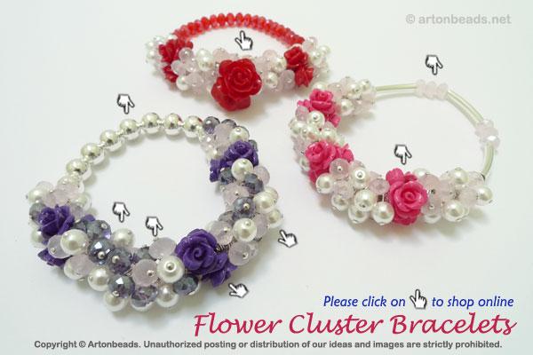 Flower Cluster Bracelets
