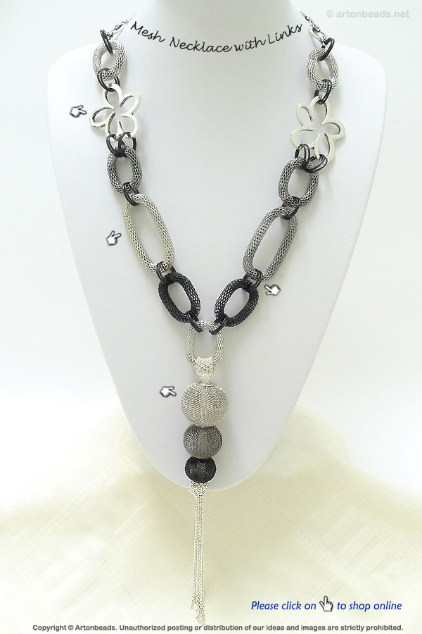 Mesh Necklace with Links