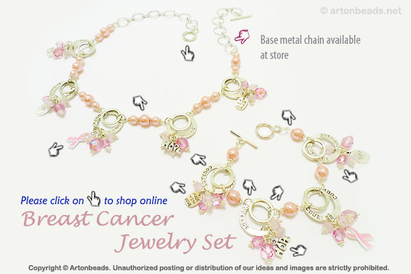 Breast Cancer Jewelry Set
