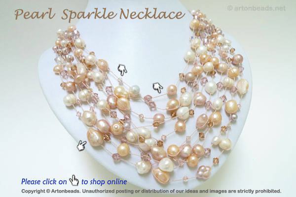 Pearl Sparkle Necklace