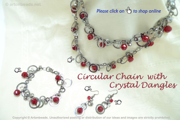 Circular Chain with Crystal Dangles