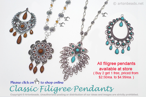 Classic Filigree Pendants