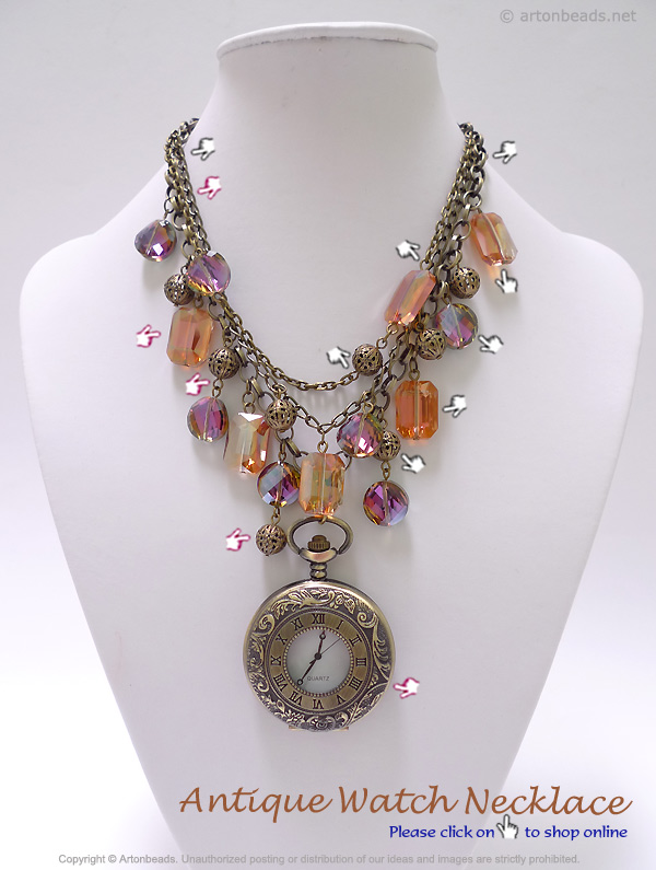 Antique Watch Necklace