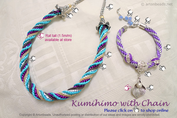 Kumihimo with Chain
