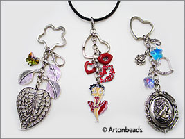 Fancy Key Rings as Pendants