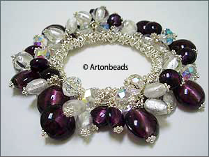 Bungee Bracelet with Foil Beads