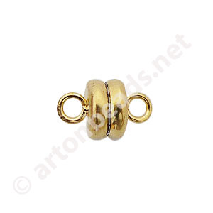 Magnetic Clasp - 18k Gold Plated - 9x6mm - 2pcs