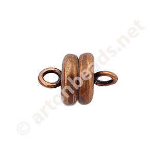 *Magnetic Clasp - Antique Copper Plated - 9x6mm - 3pcs