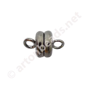 *Magnetic Clasp - Gun Metal Plated - 9x6mm - 3pcs