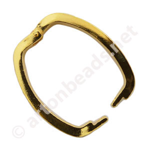 Shortenor - 18k Gold Plated - 26.4x21mm - 1pc