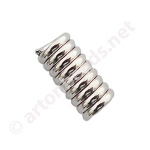 Coil No Loop - White Gold Plated - 2mm - 100pcs