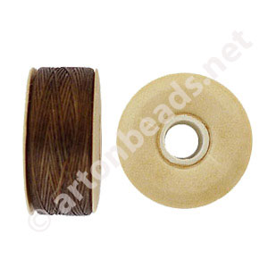 Nymo - Brown - Size B - 66m - 2pcs