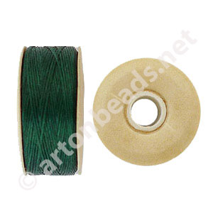 Nymo - Emerald Green - Size B - 66m - 2pcs