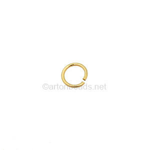 14K Gold Filled Jump Ring - 6mm - 10pcs