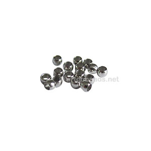 Crimps - White Gold Plated - 2mm - 550pcs