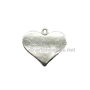 Casting Charm - Small Heart - 20x22mm - 6pcs