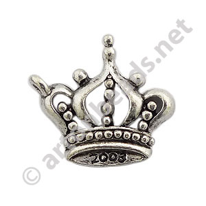 Casting Charm - Crown - 19.7x21.8mm - 10pcs - Click Image to Close