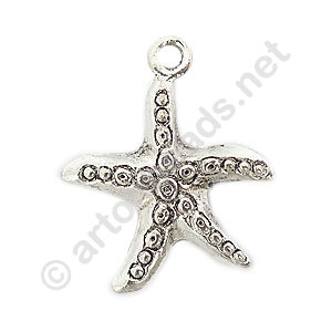 Casting Charm - Star Fish - 24x28mm - 6pcs