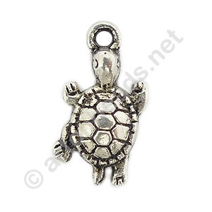 Casting Charm - Turtle - 12x23mm - 10pcs