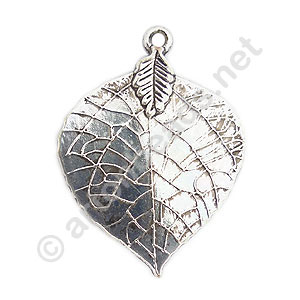 Casting Charm - Leaf - 35x48mm - 4pcs