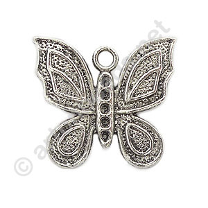 Casting Charm - Butterfly - 22x23mm - 6pcs