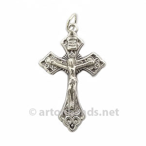 *Metal Cross - Antique Silver Plated