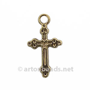 Metal Cross - Antique Gold Plated