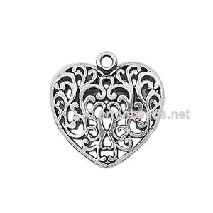 Casting Charm - Large Heart - 36x36mm - 1pc