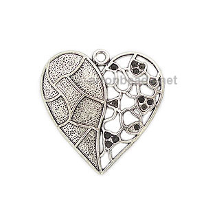 Casting Charm - Large Heart - 47x47mm - 1pc
