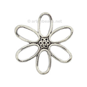 Casting Charm - Flower - 48mm - 1pc