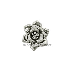 Casting Charm - Flower - 33mm - 1pc