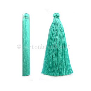 Satin Tassel - Light Turquoise - 65mm - 4pcs