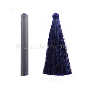 Satin Tassel - Navy Blue - 65mm - 4pcs