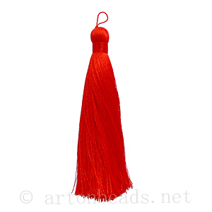 Satin Tassel - Light Siam - 110mm - 1pc