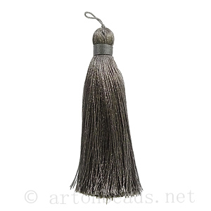 Satin Tassel - Gray - 110mm - 1pc