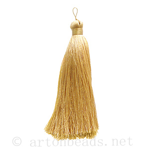 Satin Tassel - Beige - 110mm - 1pc