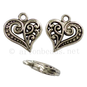 Casting Charm - Small Heart - 13.7x14.6mm - 20pcs