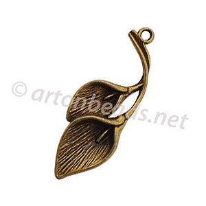Casting Charm - Flower - 37.5x13mm - 8pcs