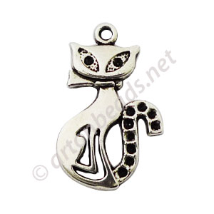 Casting Charm - Cat - 16x26mm - 10pcs