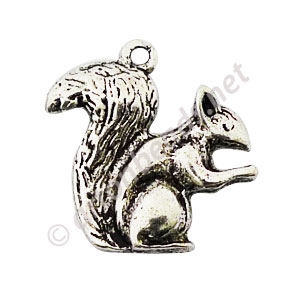 Casting Charm - Squirrel - 21x27mm - 6pcs