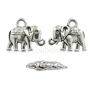 Casting Charm - Elephant - 12x14mm - 20pcs