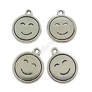 Casting Charm - Smiley - 16x19.2mm - 10pcs