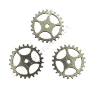 Casting Charm - Gear - 25mm -8pcs
