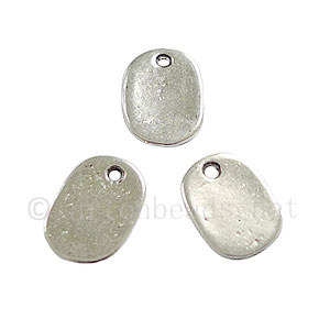 Casting Charm - Tag - Antique Silver Plated - 8x11mm - 30pcs